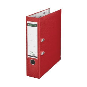 Leitz 180 Lever Arch File Poly 80mm A4 Red (Pack of 10) 10101025 - LZ101025