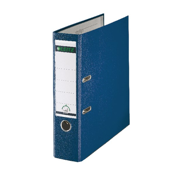 Leitz 180 Lever Arch File Poly 80mm A4 Blue (Pack of 10) 10101035 - LZ101035