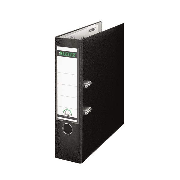 Leitz 180 Lever Arch File Poly 80mm A4 Black (Pack of 10) 10101095 - LZ101095
