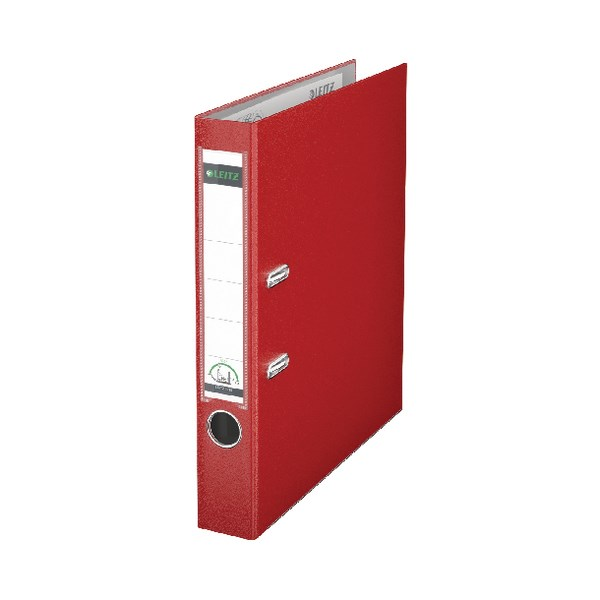 Leitz 180 Lever Arch File Poly 52mm A4 Red (Pack of 10) 10151025 - LZ101525