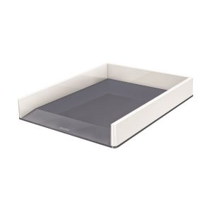 Leitz WOW Letter Tray Dual Colour White/Grey 53611001 - LZ11358