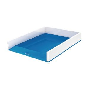 Leitz WOW Letter Tray Dual Colour White/Blue 53611036 - LZ11360