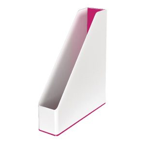 Leitz WOW Magazine File Dual Colour White/Pink 53621023 - LZ11363