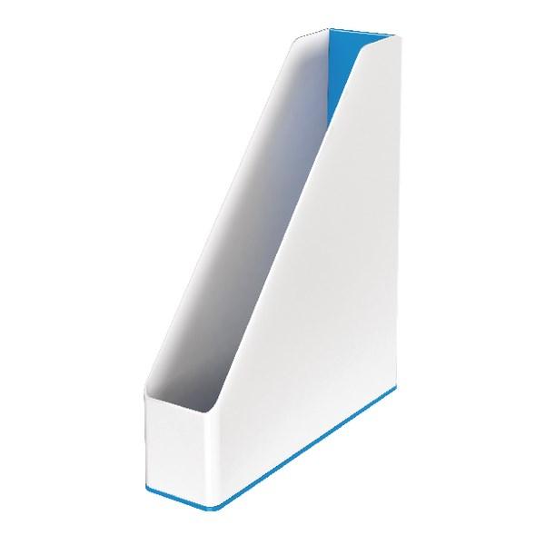 Leitz WOW Magazine File Dual Colour White/Blue 53621036 - LZ11364