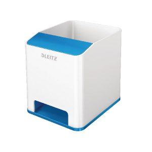 Leitz WOW Sound Booster Pen Holder White/Blue 53631036 - LZ11368