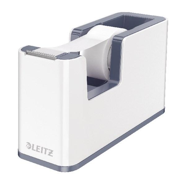 Leitz WOW Tape Dispenser Dual Colour White/Grey 53641001 - LZ11370