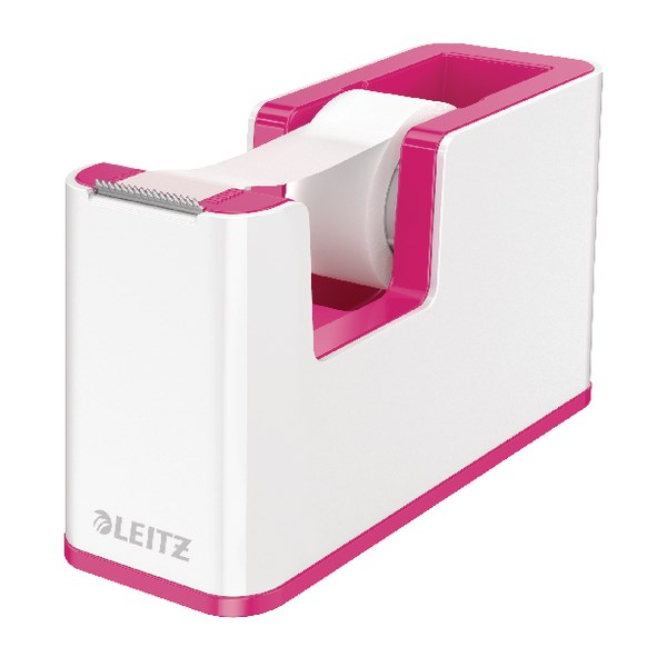 Leitz WOW Tape Dispenser Dual Colour White/Pink 53641023 - LZ11371