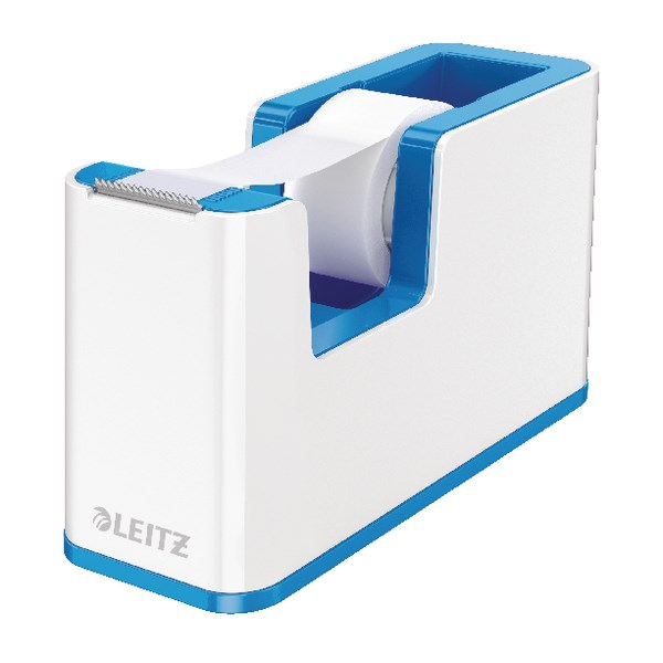 Leitz WOW Tape Dispenser Dual Colour White/Blue 53641036 - LZ11372