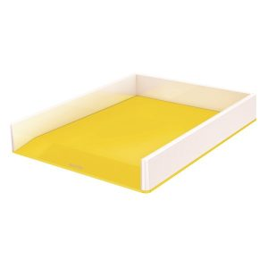 Leitz WOW Letter Tray Dual Colour White/Yellow 53611016 - LZ12200
