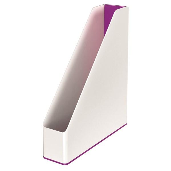 Leitz WOW Magazine File Dual Colour White/Purple 53621062 - LZ12206