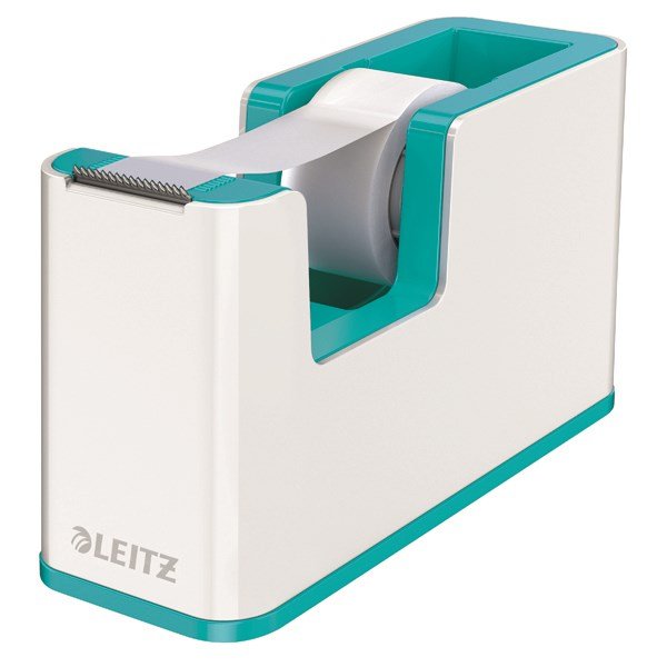 Leitz WOW Tape Dispenser Dual Colour White/Ice Blue 53641051 - LZ12213