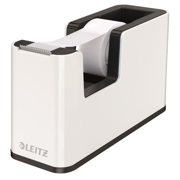Leitz WOW Tape Dispenser Dual Colour White/Black 53641095 - LZ12215