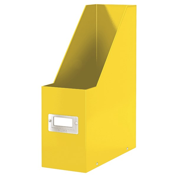 Leitz WOW Click and Store Magazine File Yellow 60470016 - LZ12240
