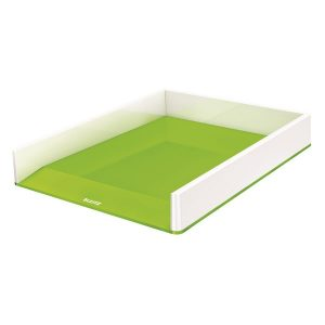 Leitz WOW Letter Tray Dual Colour White/Green 53611054 - LZ12372