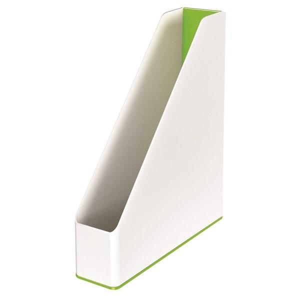 Leitz WOW Magazine File Dual Colour White/Green 53621054 - LZ12373