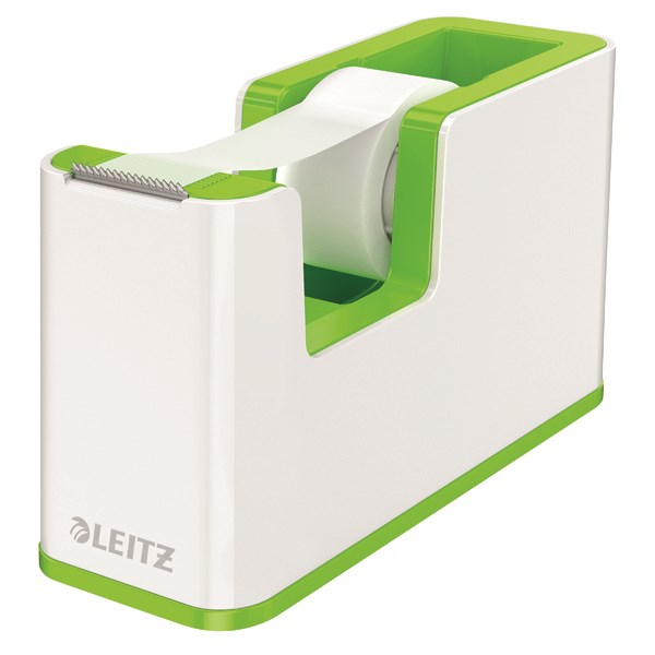 Leitz WOW Tape Dispenser Dual Colour White/Green 53641054 - LZ12375