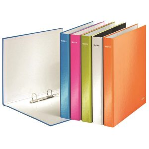 Leitz Wow 2 D-Ring Binder 25mm A4 Plus Assorted (Pack of 10) 42412099 - LZ32919