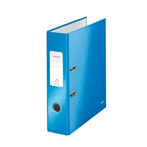 Leitz Wow 180 Lever Arch File 80mm A4 Blue (Pack of 10) 10050036 - LZ33008