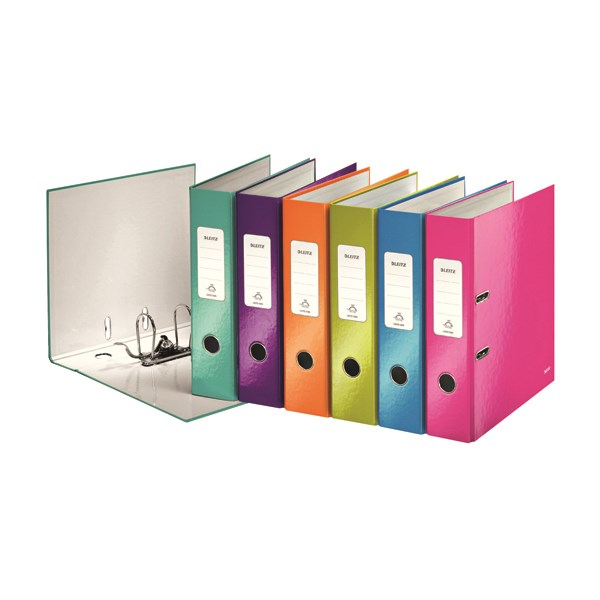 Leitz Wow 180 Lever Arch File 50mm A4 Assorted (Pack of 10) 10061099 - LZ33107