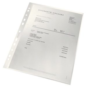 Leitz Punched Pockets Recycled A4 (Pack of 100) 4791-10-03 - LZ39486