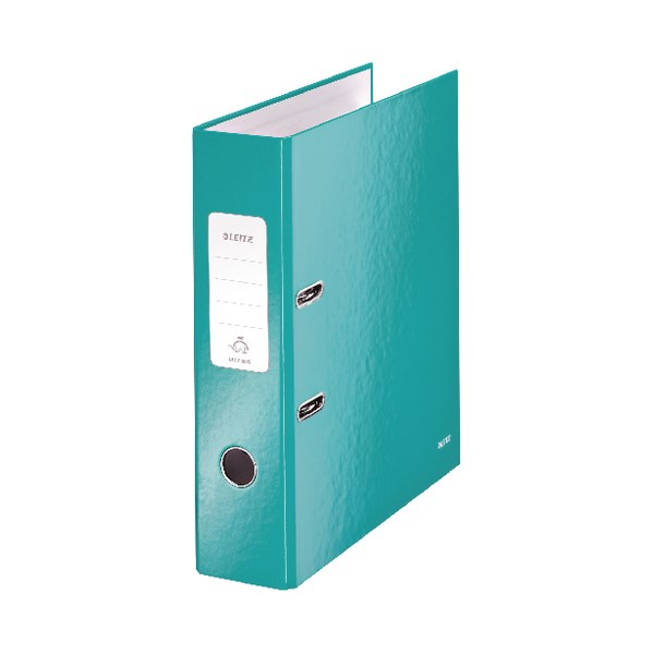 Leitz Wow 180 Lever Arch File 80mm A4 Ice Blue (Pack of 10) 10050051 - LZ55701