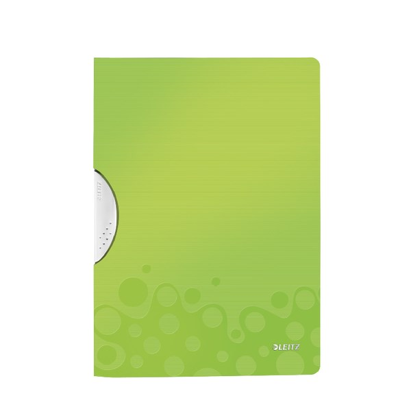 Leitz WOW ColorClip Poly File A4 Green Metallic (Pack of 10) 41850064 - LZ56212