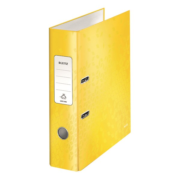 Leitz 180 WOW Lever Arch File A4 80mm Yellow (Pack of 10) 10050016 - LZ59453