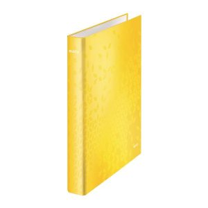 Leitz WOW Ring Binder Yellow A4 25mm (Pack of 10) 42410016 - LZ59489