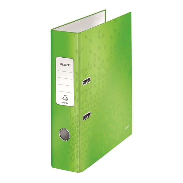 Leitz 180 WOW Lever Arch File A4 80mm Green (Pack of 10) 10050054 - LZ59972