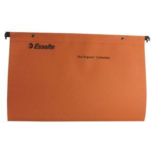 Esselte Orgarex Suspension File V Base Foolscap Orange (Pack of 50) 10402 - ES10402