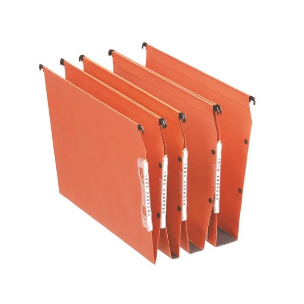 Esselte Orgarex 15mm Lateral File V-Bottom A4 Orange (Pack of 25) 21627 - ES21627