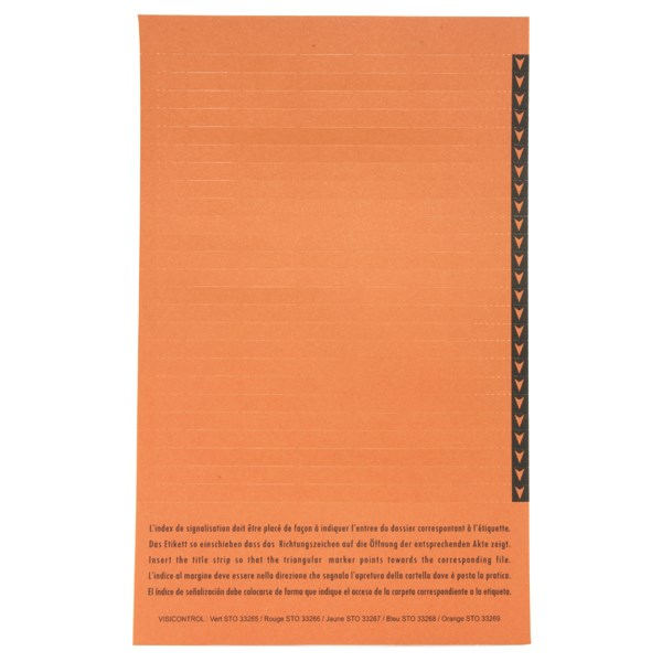 Esselte Orgarex Lateral Insert White With Orange Tip (Pack of 250) 326900 - ES26900