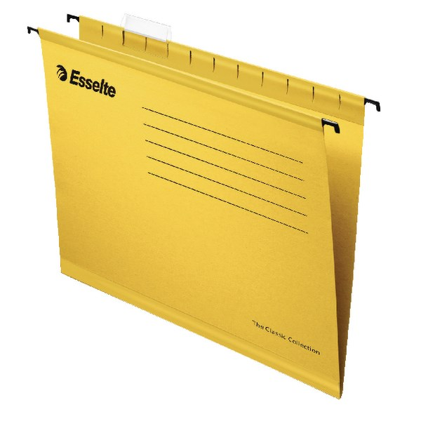 Esselte Classic A4 Yellow Suspension File (Pack of 25) 90314 - ES90314