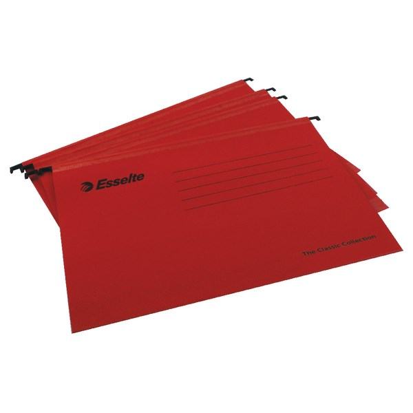 Esselte Classic A4 Red Suspension File (Pack of 25) 90316 - ES90316