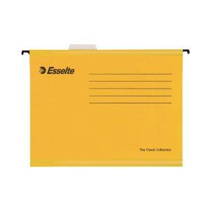 Esselte Classic Foolscap Yellow Suspension File (Pack of 25) 90335 - ES90335