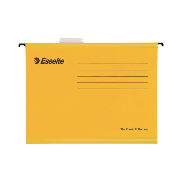 Esselte Classic Foolscap Yellow Suspension File (Pack of 25) 90335 - ES90335