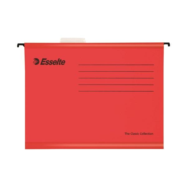 Esselte Classic Foolscap Red Suspension File (Pack of 25) 90336 - ES90336