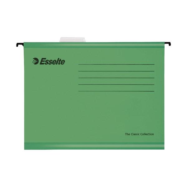 Esselte Classic Foolscap Suspension File Green (Pack of 25) 90337 - ES90337